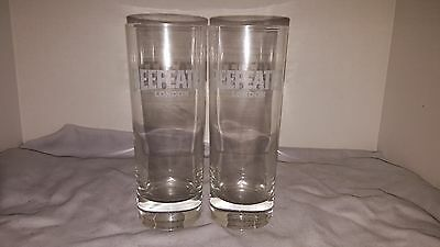 Beefeater London Dry Gin Etched Logo Frosted Cocktail Glasses Set of 2