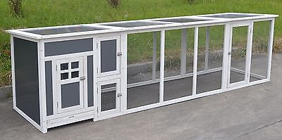 """115"""" Deluxe Wood Coop w/ Plastic Insert 2-4 Chicken Cage House Run Nesting box"""