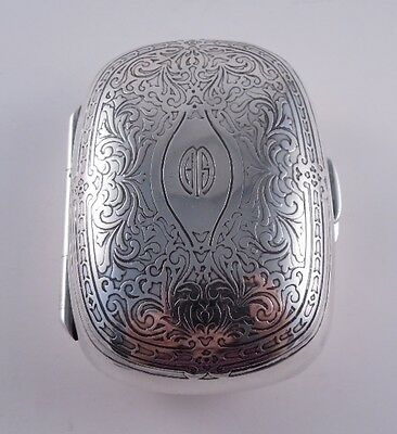 Tiffany Sterling Silver Antique Acid Etched Dresser Box Soap Purse