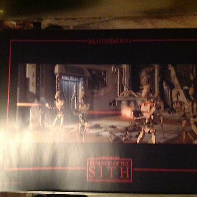 Star Wars Revenge Of The Sith Masterworks Lithographic Art Prints Set Ltd Edt...