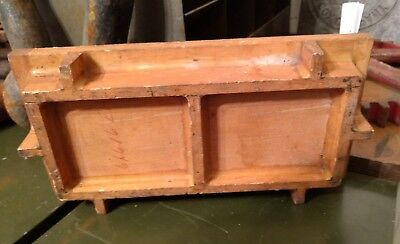 Antique Machine Age Industrial Handmade Wood Foundry Mold Pattern Steampunk