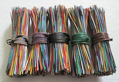 BUTTON WIRES-5 packs of 200 ea. (1,000) for antique/vintage metal glass button
