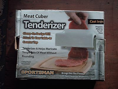 sportsman cast iron meat cuber tenderizer
