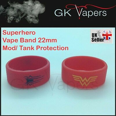 Spiderman & Wonder Woman Vape bands, for your 22mm mod/tank,Stretch upto 25mm
