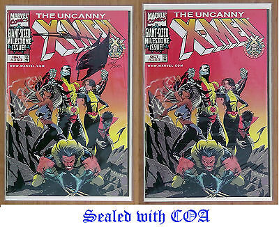 X MEN 360 x 2 different issues. Exclusive & Rare unread plus sealed with COA
