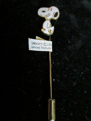Aviva Cloisonne Snoopy Walking And Smiling Stick Pin New, Mint!