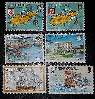 ALDERNEY Mixed Used Stamps (No 1332)