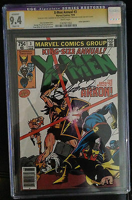 X-Men Annual #3 CGC SS (Restored) 9.4 Signed by Chris Claremont & George Perez