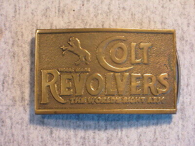 'Colt Revolvers - The World's Right Arm' Belt Buckle