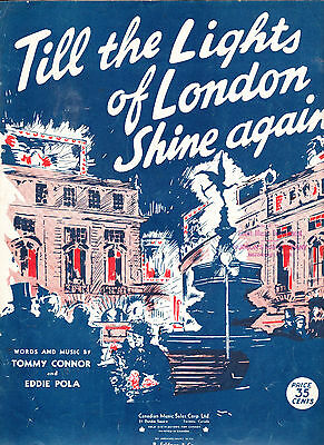 sheet music Till The Lights Of London Shine Again - Tommy Connor - Eddie Pola