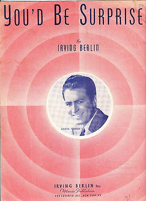 sheet music You'd Be Surprised - Irving Berlin