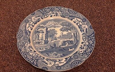 Vintage Copeland England Spodes blue and white 19CM side plate