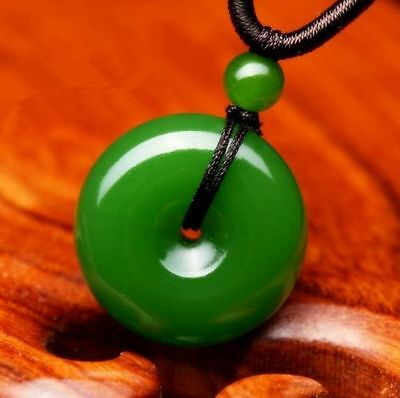How Chinese Natural Green Jade Hand-carved Lucky Buckle Jadeite Pendant