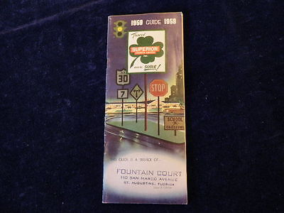 Vintage Superior Courts Directory 1959 Hotel Motel Location Excellent Guide a74
