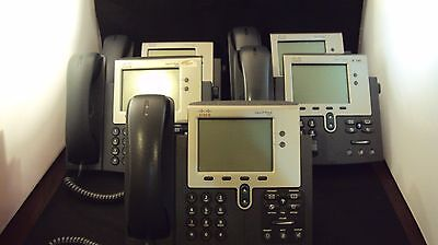 Lot of 5 Cisco CP-7941G IP Phone 7941 VoIP Business Phone + handsets