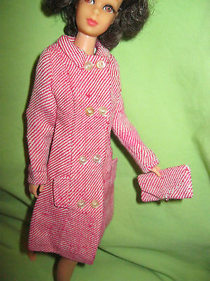Barbie VINTAGE 1966 FRANCIE Fashion #1261 Shopping Spree COAT & PURSE Outfit