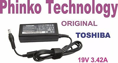 NEW Original Genuine Adapter Charger for Toshiba Laptops, 19V 3.42A, 65W