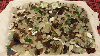 Huge Lot 14 Pounds! Vintage Genuine Sea Glass Collection! Beach Tumbled! Wow! !