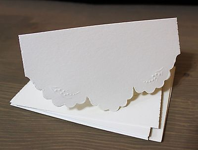 IVORY #1 set of 5 cards with matching envelopes - Card Making - Rubber Stamping