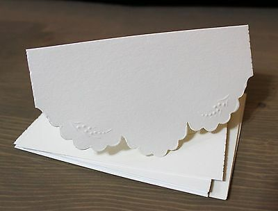 IVORY #2 set of 5 cards with matching envelopes - Card Making - Rubber Stamping