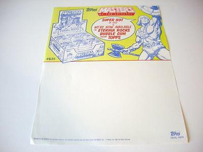 Selling sheet MASTERS OF THE UNIVERSE Eternia Rocks; GOLD RUSH