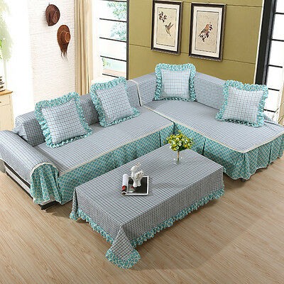 L-Shape Sofa Couch Case Protector Cushion Cover seats Home Decor Slipcover