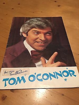 Tom O'Connor Signed Book And Card