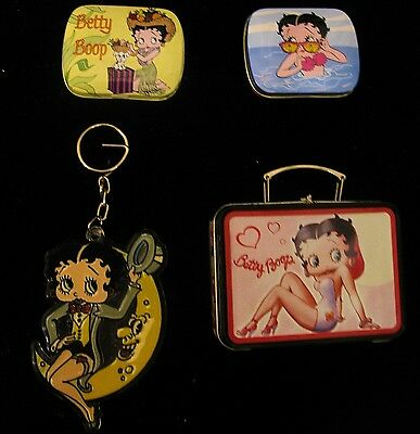 :vintage Betty Boop Mini Lunch Box, Tins, & Key Chain