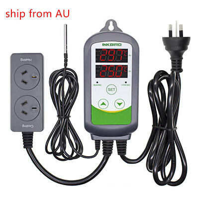 Inkbird ITC-308 AU PLUG Temperature Controller 230V wired IP68 sensor heat cool