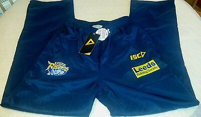 "LEEDS RHINOS Track Suit Bottoms Blue Adults XS 30"" Waist"