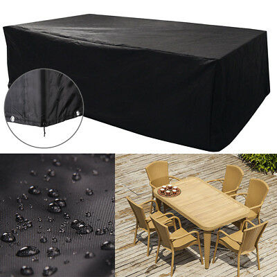 Waterproof Rectangular Garden Patio Furniture Cover Covers Table Bench Outdoor