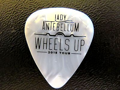 """LADY ANTEBELLUM Guitar Pick--WHITE Marble """"WHEELS UP"""" 2015 Summer Tour"""