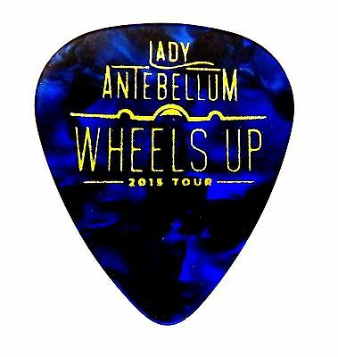 """NEW 2015 LADY ANTEBELLUM ---BLUE Marble """"WHEELS UP"""" guitar pick SOLD OUT AUTHENT"""