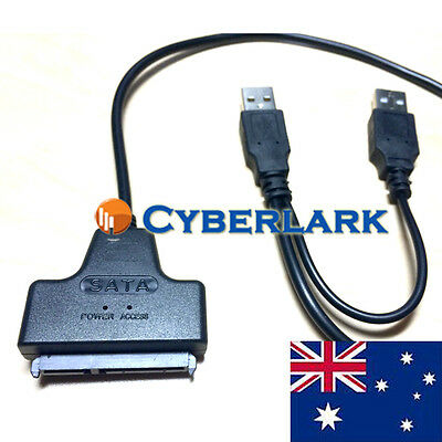"""2.5"""" Notebook HDD SATA Hard Disk Drive to USB 2.0 Converter Adapter Cable"""