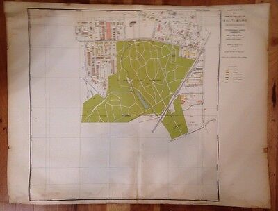 Antique BALTIMORE MARYLAND Map 1914 Vintage Atlas Map Topographical wall art