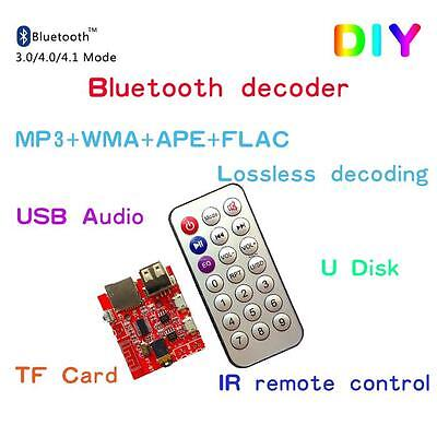 4.1 Bluetooth Decoding Board Car Speaker Refit Module With Remote Control ends