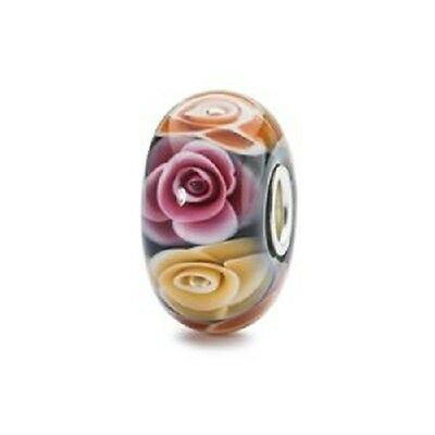 Trollbeads Sterling Silver Genuine Charm Bead Roses for Mom Mum TGLBE-30019