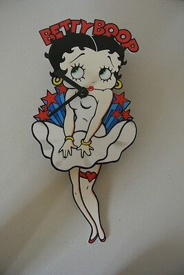 Betty Boop Swingin Legs in Famous Marilyn Monroe Dress Scene Clock - Vintage