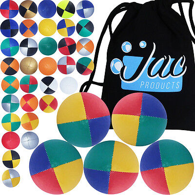 Set of 5 Jac Products Pro Thud Juggling Balls & Travel Bag!