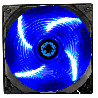 Game Max Sirocco 4 x Blue LED Hydraulic Bearing 120mm PC Case Cooling Fan
