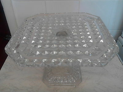 vintage cake stand. vintage cheese dish