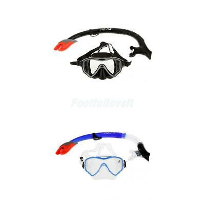 Scuba Divers ADULT Silicone Mask and Snorkel Set Snorkelling Swimming Goggles