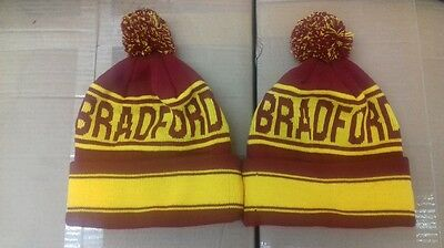 Bradford City Pom Pom Beanie Hat. The Bantams