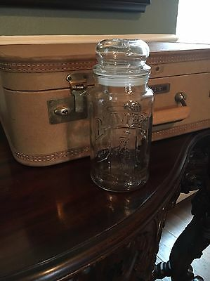 Collectible Planters Nuts Mr. Peanut Glass Jar with Lid 75th Anniversary