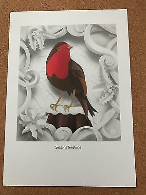 Royal Mail Exclusive Christmas 2016 Helen Musselwhite Print Robin Redbreast