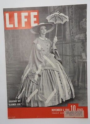 Original Life Magazine COVER ONLY November 6 1944 Broadway Hit Bloomer Girl