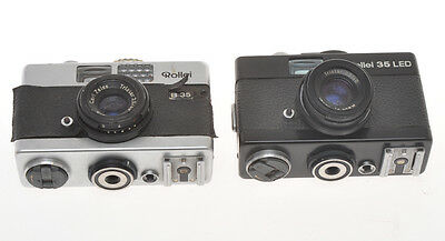 Rollei lot of two cameras, Rollei B35 e 35Led, broken not in working order