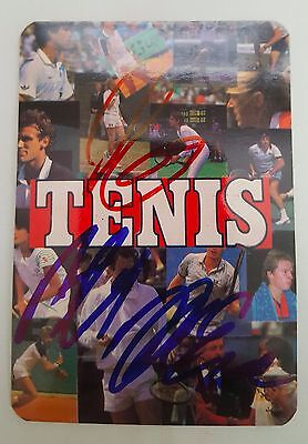 Tenis 1986 Portuguese Tennis Card Autographed MINT Very Rare Collectable