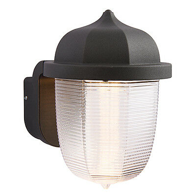 Saxby 70192 HEATH Black/Frosted Single 7W LED Outdoor Wall IP44 Light
