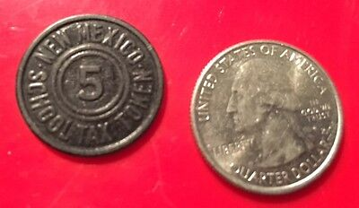 USA - New Mexico 5 Cents School Tax Token (1935-1948) undated plastic